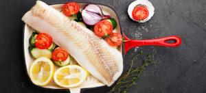 Filet de poisson, courgettes et tomates provençales