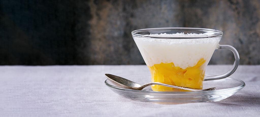 Riz au lait à l'abricot